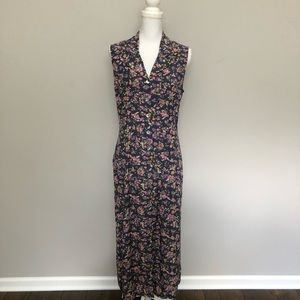 Vintage Robbie Bee Dress Button Front Pleated Tie